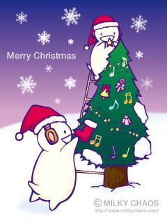 レコーズとクリスマスツリー